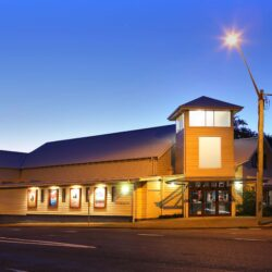 Jetty Memorial Theatre at dusk